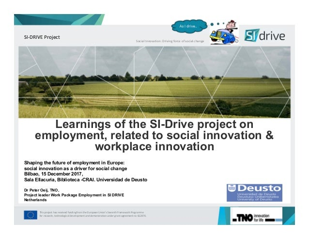 SI‐DRIVE Project This project has received funding from the European Union's Seventh Framework Programme for research, tec...