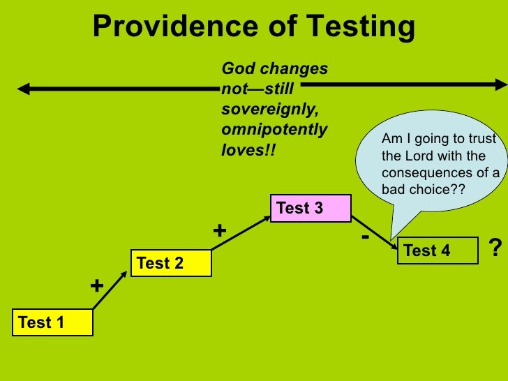 Providence of Testing                      God changes                      not—still                      sovereignly,   ...
