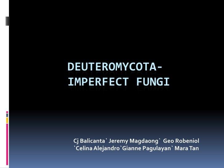 Parasexuality in deuteromycota