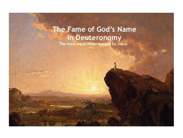 Deuteronomy The Fame Of Your Name