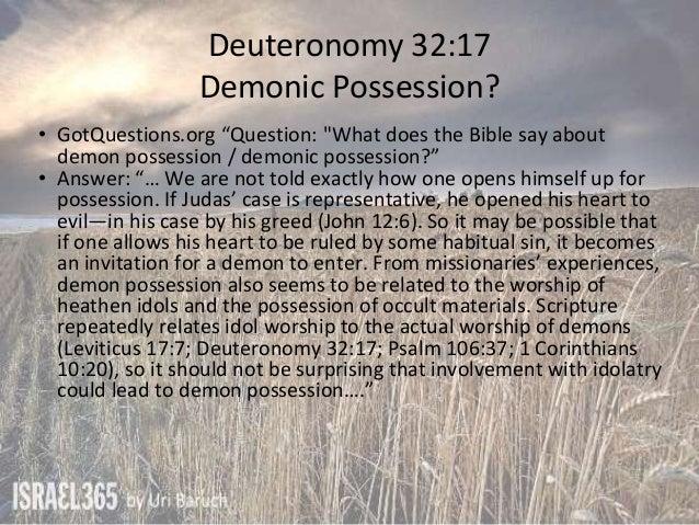 Deuteronomy 31 34 falling away venom idols or demons for Does the bible say no tattoos