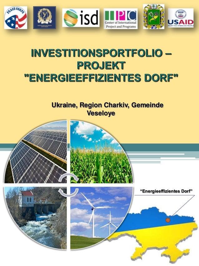 """0 Ukraine, Region Charkiv, Gemeinde Veseloye """"Energieeffizientes Dorf"""""""