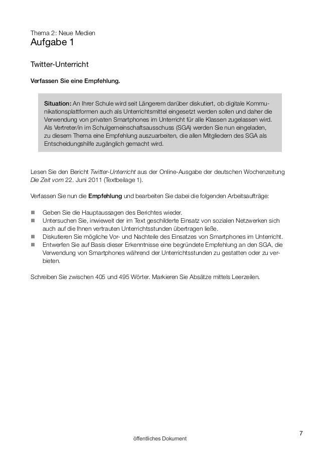 empfehlung schreiben deutsch muster