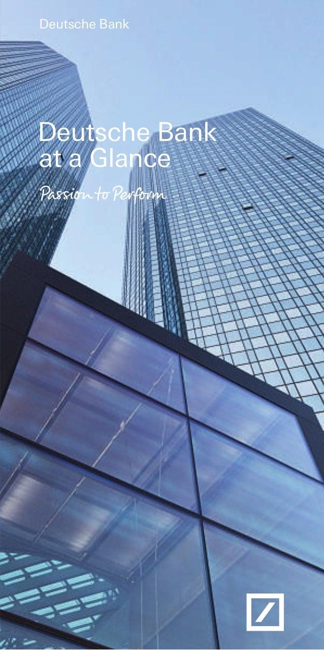 Deutsche BankDeutsche Bankat a Glance