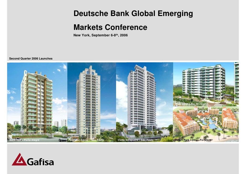 Deutsche bank global emerging markets conference