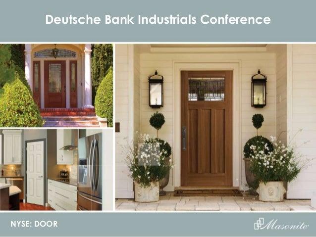 NYSE: DOOR Deutsche Bank Industrials Conference