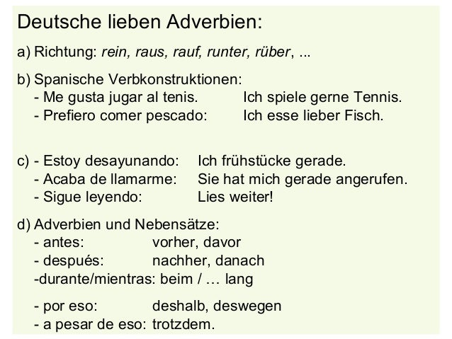 adverbien spanisch