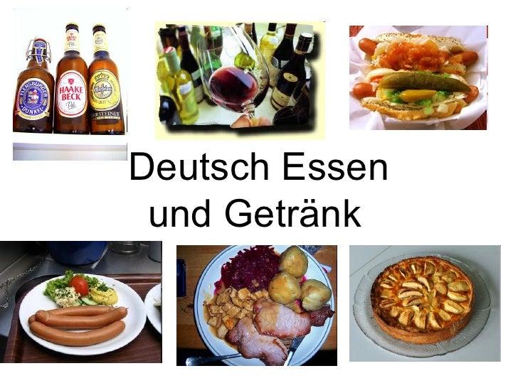 Deutsch Essen und Getränk