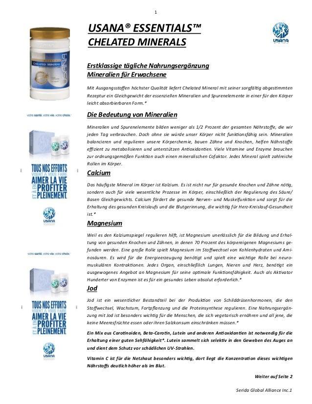 1 Serida Global Alliance Inc.1 Erstklassige tägliche Nahrungsergänzung Mineralien für Erwachsene D ŝƚƵƐŐĂŶŐƐƐƚŽī ĞŶŚƂĐŚƐƚĞ...