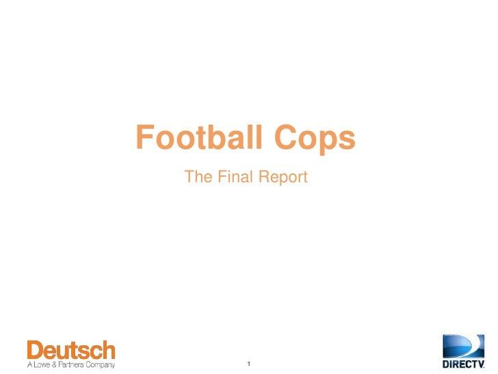 Football Cops  The Final Report          1