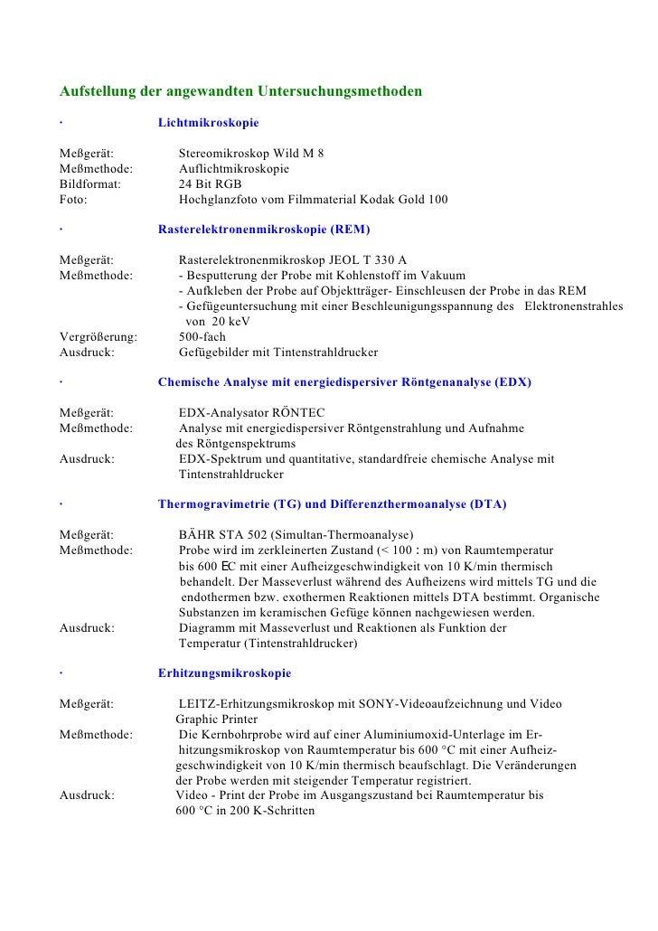WORLDWIDE OLDEST PRIVATE LABORATORY SPECIALIZED FOR GENUINE ANALYSES       FH KoblenzFB Werkstofftechnik Glas und Keramik ...