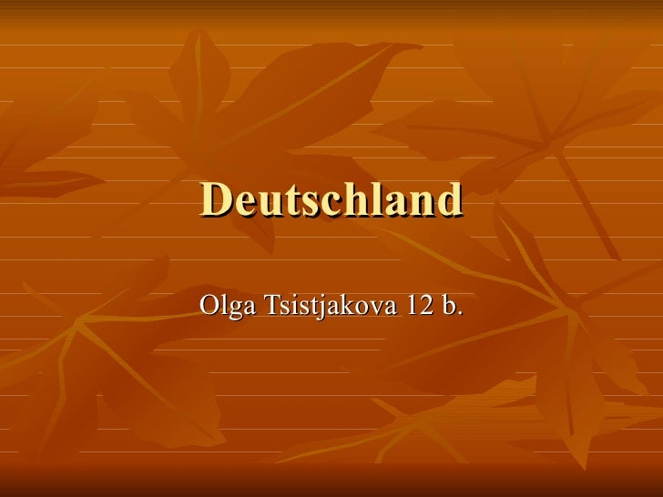 Deutschland Olga Tsistjakova 12 b.
