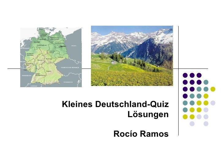 Kleines Deutschland-Quiz Lösungen Rocío Ramos