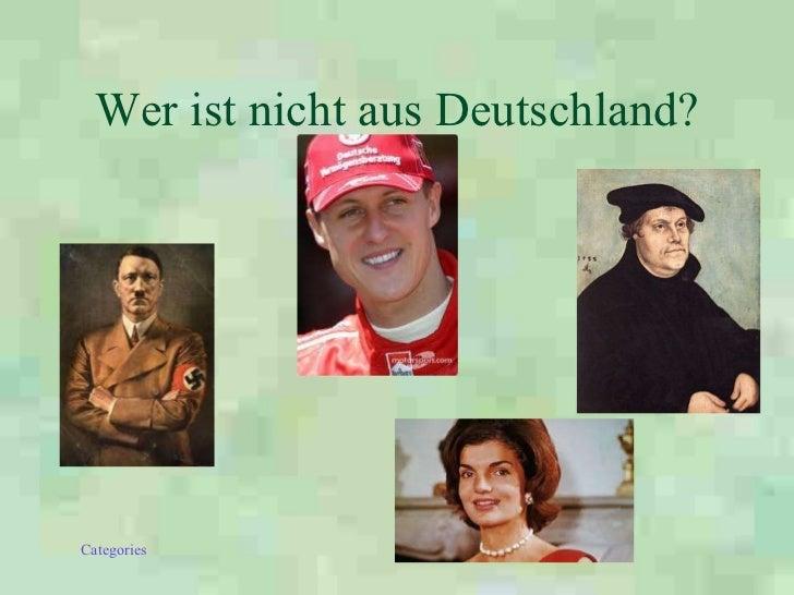 Wer ist nicht aus Deutschland?
