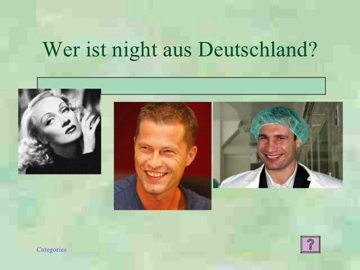 Wer ist night aus Deutschland?