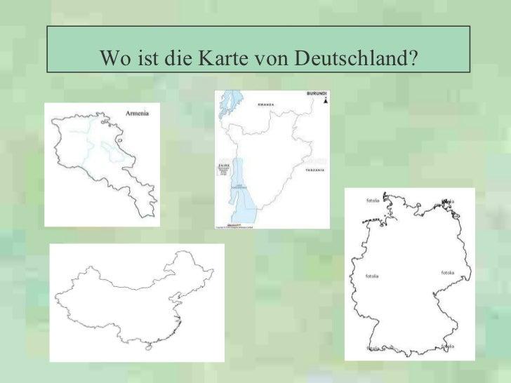 Wo ist die Karte von Deutschland?