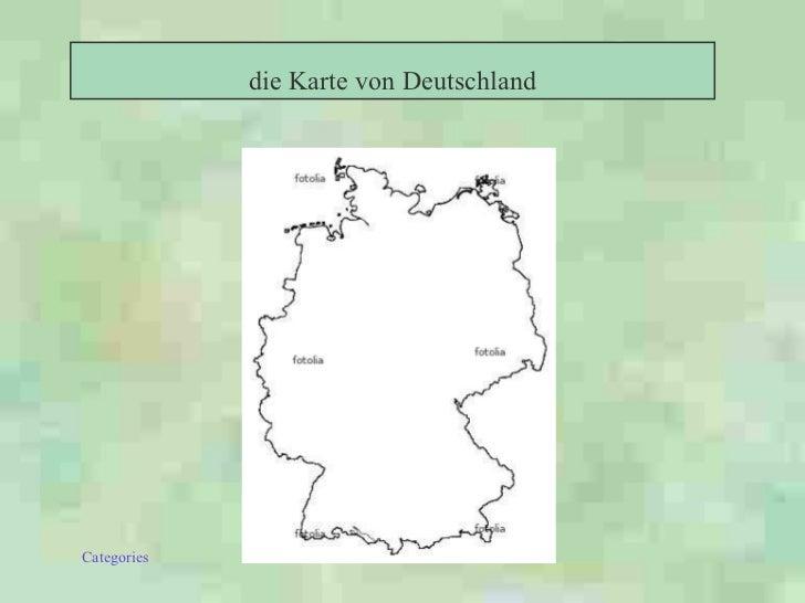 die Karte von Deutschland