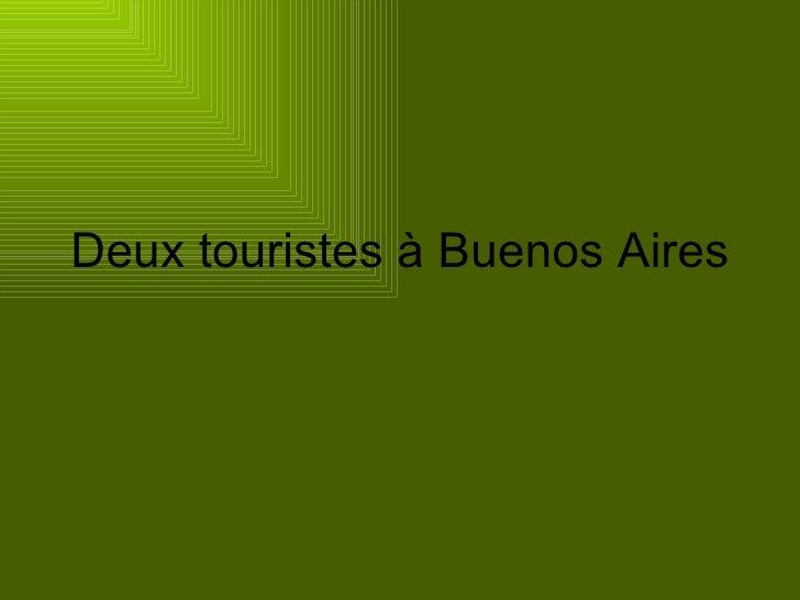 Deux touristes à Buenos Aires