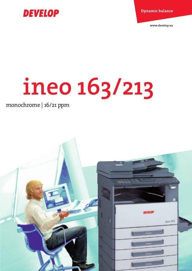 DEV-ineo163-213-engl.qxd:DEV-ineo163-213-e.qxd   19.06.2008   11:31 Uhr   Seite 1              ineo 163/213   monochrome |...