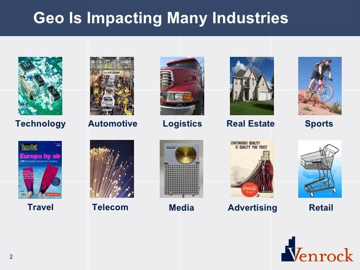 Geo Is Impacting Many Industries Travel Telecom Logistics Real Estate Technology Automotive Media Advertising Retail Sports