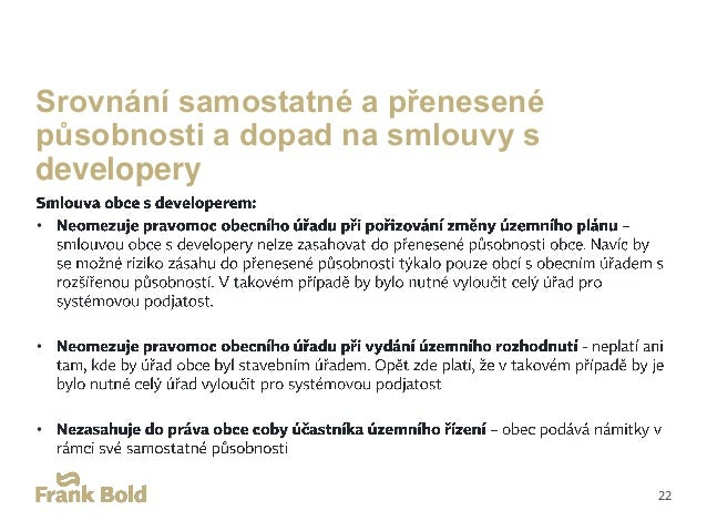 Rizika uzavírání smluv s developery pro obce Name of presentation 23