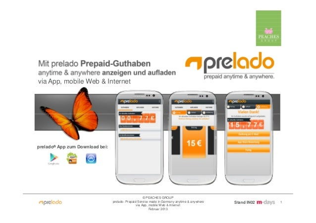 via App, mobile Web & Internetprelado® App zum Download bei:                                                      © PEACHE...