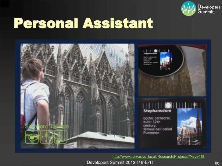 Personal Assistant                    http://www.pervasive.jku.at/Research/Projects/?key=468         Developers Summit 201...