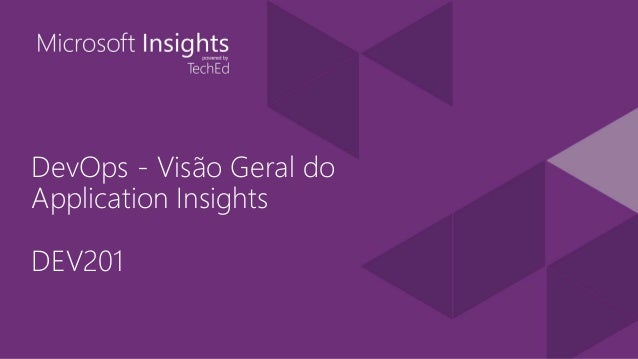 DevOps - Visão Geral do Application Insights DEV201