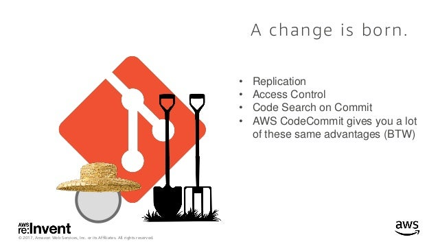 © 2017, Amazon Web Services, Inc. or its Affiliates. All rights reserved. A change is born. • Replication • Access Control...