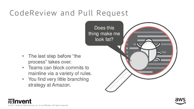 © 2017, Amazon Web Services, Inc. or its Affiliates. All rights reserved. CodeReview and Pull Request Does this thing make...
