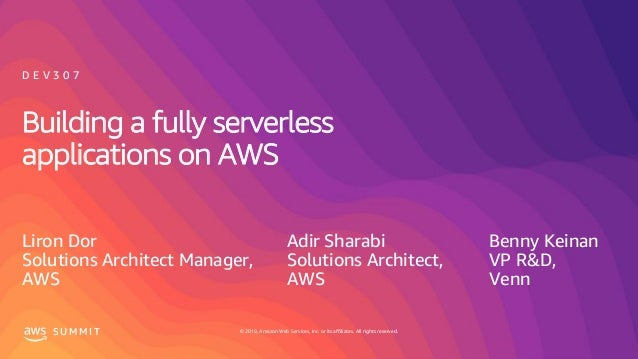© 2019, Amazon Web Services, Inc. or its affiliates. All rights reserved.S U M M I T © 2019, Amazon Web Services, Inc. or ...