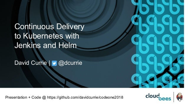 Continuous Delivery to Kubernetes with Jenkins and Helm David Currie | @dcurrie Presentation + Code @ https://github.com/d...