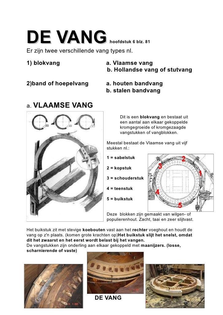 DE VANG                                 hoofdstuk 6 blz. 81Er zijn twee verschillende vang types nl.1) blokvang           ...