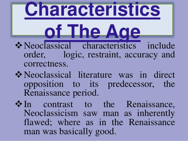 Characteristics of neoclassicism literature