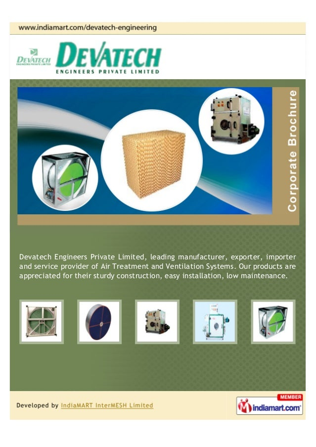 Devatech Engineers Private Limited, leading manufacturer, exporter, importerand service provider of Air Treatment and Vent...