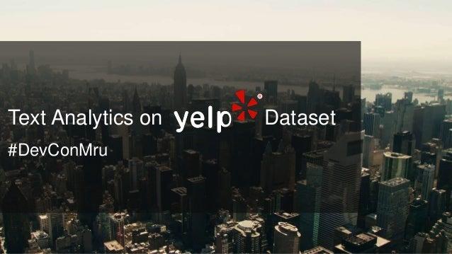 Text Analytics on Dataset #DevConMru