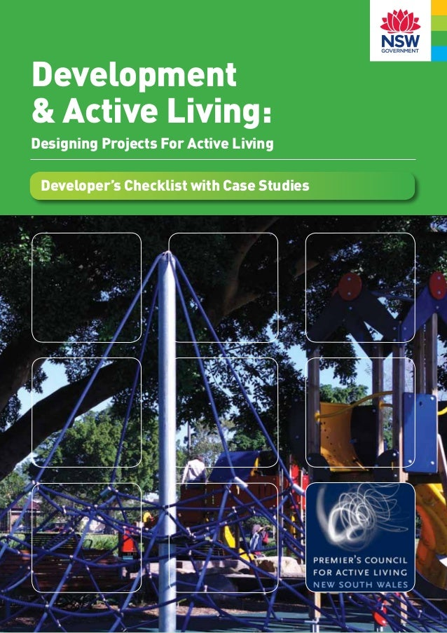 Development& Active Living:Designing Projects For Active Living Developer's Checklist with Case Studies                   ...