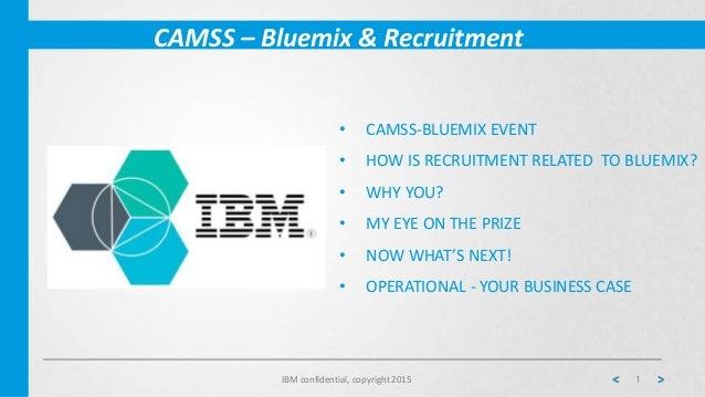 Bluemix & Recruitment - Internship Challenge