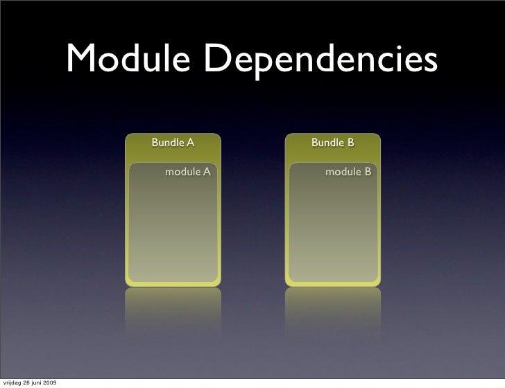 Module Dependencies                            Bundle A     Bundle B                               module A     module B  ...