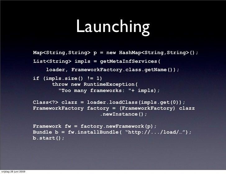 Launching                        Map<String,String> p = new HashMap<String,String>();                        List<String> ...
