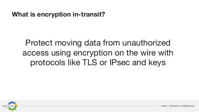 Learn. Connect. Collaborate. What is encryption in-transit? Protect moving data from unauthorized access using encryption ...