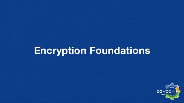 Encryption Foundations