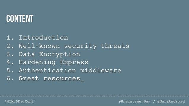 @Braintree_Dev / @SeraAndroid#HTML5DevConf Fast Identity Onlinefidoalliance.org