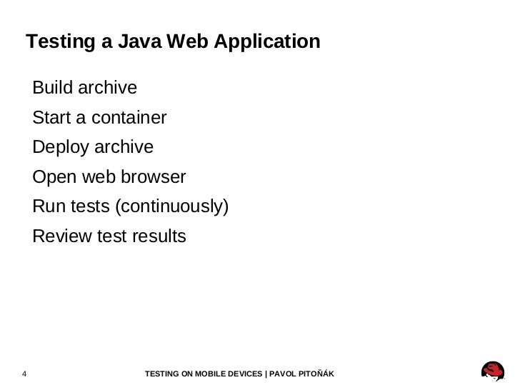 Testing a Java Web Application <ul><li>Build archive