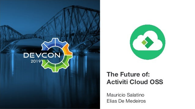 The Future of: Activiti Cloud OSS Mauricio Salatino  Elias De Medeiros