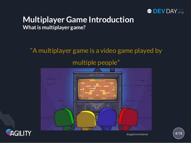 """Multiplayer Game Introduction What is multiplayer game? """"A multiplayer game is a video game played by multiple people"""" 4/1..."""