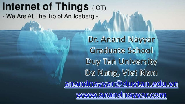 Internet of Things (IOT) - We Are At The Tip of An Iceberg -