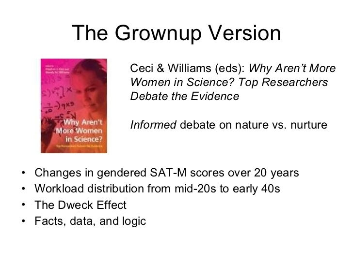What Real Scientists Do <ul><li>Changes in gendered SAT-M scores over 20 years </li></ul><ul><li>Workload distribution fro...