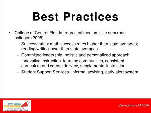 Developmental Education Best Practices