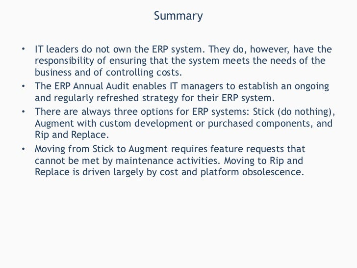 develop erp operation strategy 50